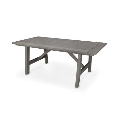 "Slate Grey Rustic Farmhouse 39"" x 75"" Dining Table"
