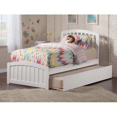 Richmond Twin Bed with Matching Foot Board with Urban Trundle Bed in White