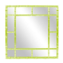 Bamboo Mirror - Glossy Green