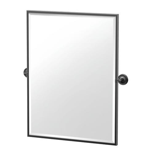 Designer II Framed Rectangle Mirror in Matte Black