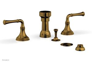 COINED Four Hole Bidet Set 208-60 - French Brass Product Image