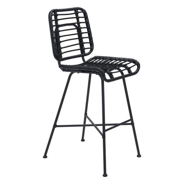See Details - Murcia Bar Chair Black