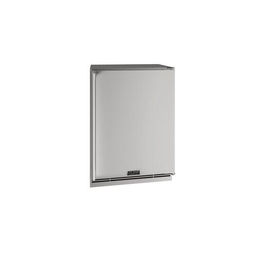 "24"" Refrigerator With Stainless Solid Finish (230 V/50 Hz Volts /50 Hz Hz)"