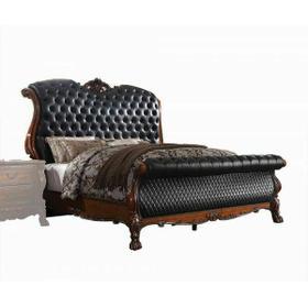 ACME Dresden Eastern King Bed - 28227EK - Traditional, Vintage - PU, Wood (Poplar), MDF, Poly-Resin - PU and Cherry Oak