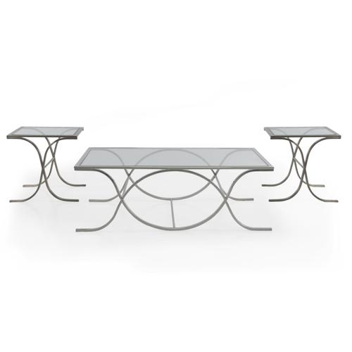 DNA Glass SILVER Rect Coffee Table Box1 of 2