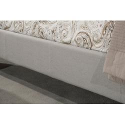 Kaylie Upholstered Side Rail - King - Dove Gray