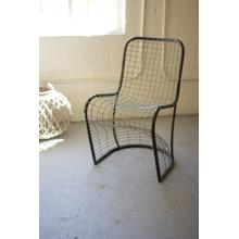 See Details - woven metal dining chair