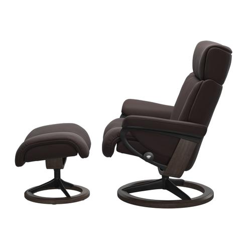 Stressless By Ekornes - Stressless® Magic (M) Signature chair with footstool