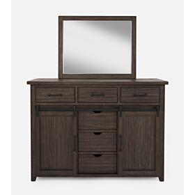 Madison County Dresser & Mirror - Barnwood