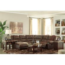 Nantahala Coffee 5 Piece Reclining Sectional