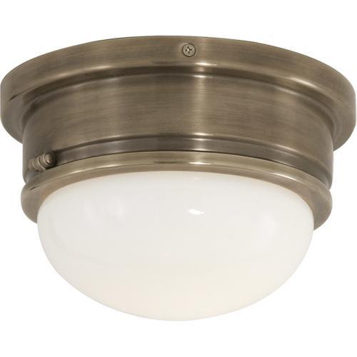 E. F. Chapman Marine 1 Light 8 inch Antique Nickel Flush Mount Ceiling Light