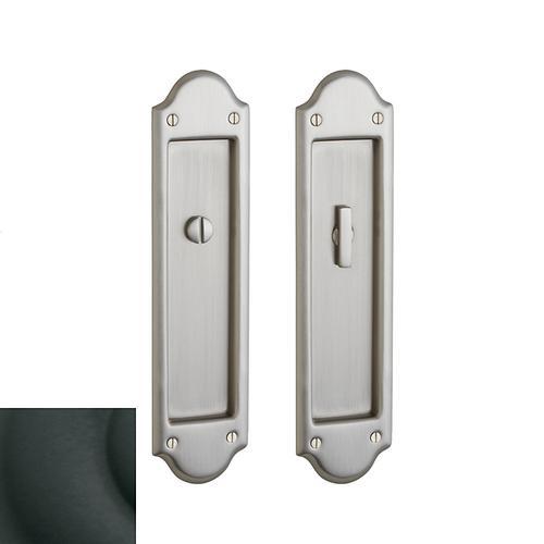 Baldwin - Satin Black PD016 Boulder Pocket Door