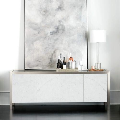 Gallery - Decorage Entertainment Console in Cerused Mink (380)
