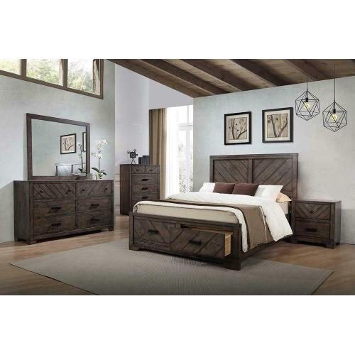 Lawndale Rustic Weathered Grey Queen Four-piece Set