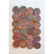 See Details - multi color chindi braided rug