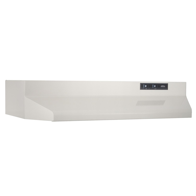 BroanBroan® 30-Inch Ducted Under-Cabinet Range Hood, 210 Max Blower Cfm, Bisque