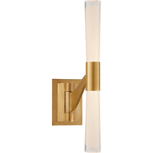 AERIN Brenta 9 inch 12 watt Hand-Rubbed Antique Brass Single Articulating Sconce Wall Light