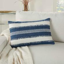 """Outdoor Pillows Vj088 Navy 14"""" X 22"""" Throw Pillow"""