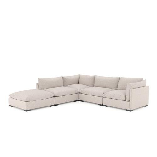 W/ Ottoman Configuration Bayside Pebble Cover Westwood 4 Piece Sectional