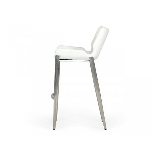 VIG Furniture - Modrest Dave - Modern White Leatherette Bar Stool (Set of 2)