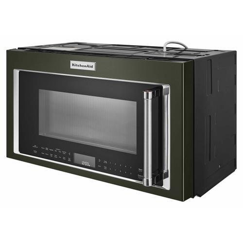 """KitchenAid - 30"""" 1000-Watt Microwave Hood Combination with Convection Cooking - Black Stainless Steel with PrintShield™ Finish"""