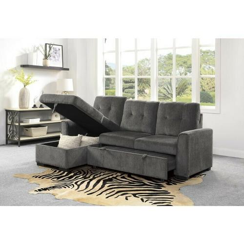 2-Piece Reversible Sectional with Storage