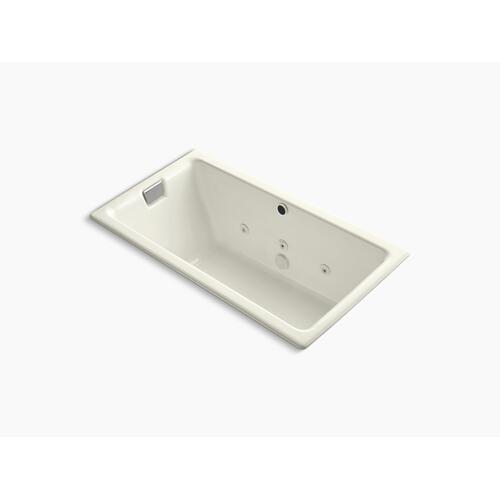 "Biscuit 66"" X 36"" Drop-in/undermount Whirlpool Bath, Reversible Drain"