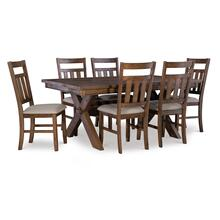 Turino Rustic Umber 7 PC Dining Set