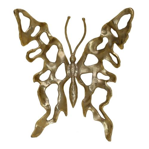 Metal Butterfly Champagne Large