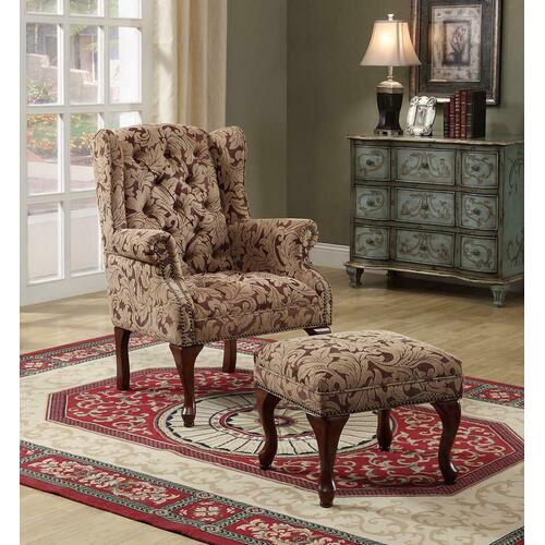 Coaster - Queen Anne Light Brown Accent Chair
