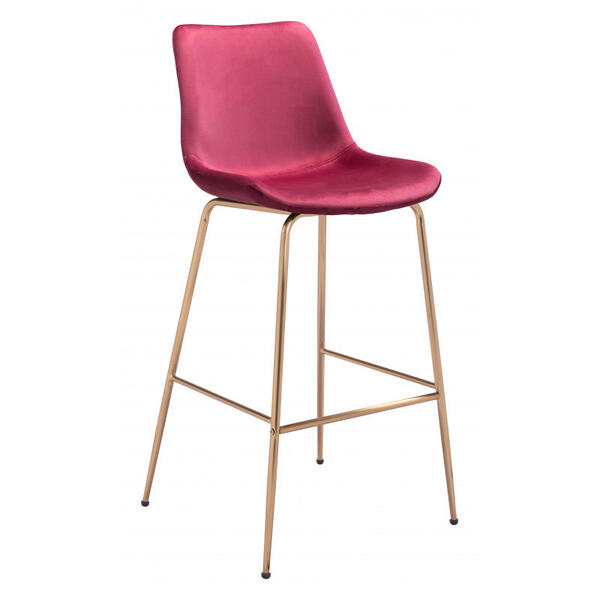 See Details - Tony Bar Chair Red & Gold