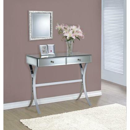 See Details - Contemporary Mirrored Console Table