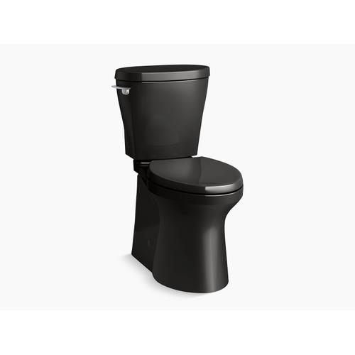 Black Black Betello With Continuousclean Comfort Height Two-piece Elongated 1.28 Gpf Toilet With Continuousclean, Skirted Trapway, Revolution 360 Swirl Flushing Technology and Left-hand Trip Lever, Seat Not Included