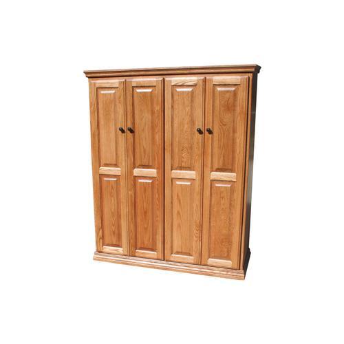 """Traditional Oak 48"""" Full Door Bookcase"""