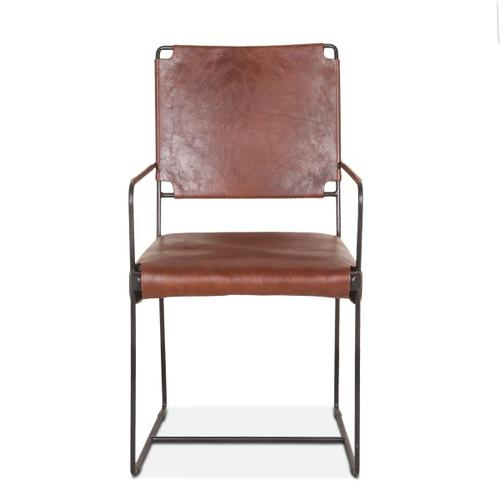 New York Arm Chair Tobacco Leather