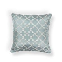 """L251 LT.BLUE Filigree Pillow 18"""" X 18"""""""