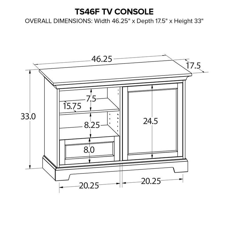 TS46F Custom TV Console