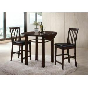 Acme Furniture Inc - ACME Artie 3Pc Pack Counter Height Set - 72060 - Espresso & Black PU