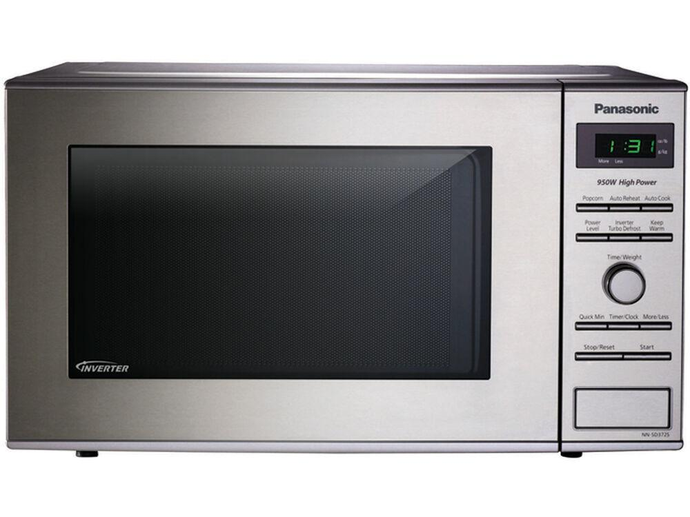 Panasonic0.8 Cu. Ft. Small/compact Countertop Microwave Oven With Inverter Technology - Stainless Steel - Nn-Sd372s