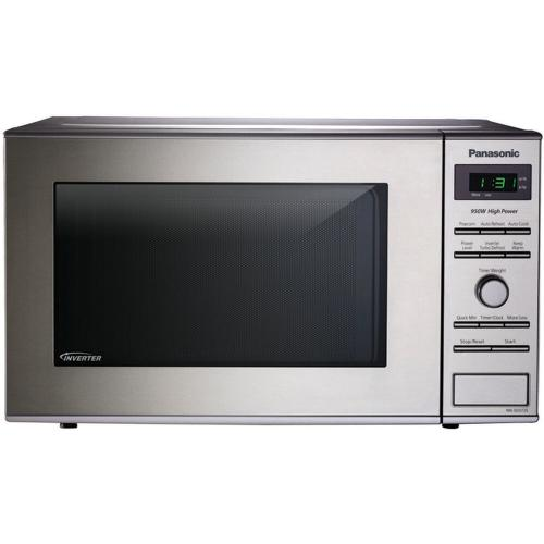 0.8 Cu. Ft. Small/Compact Countertop Microwave Oven with Inverter Technology - Stainless Steel - NN-SD372SR