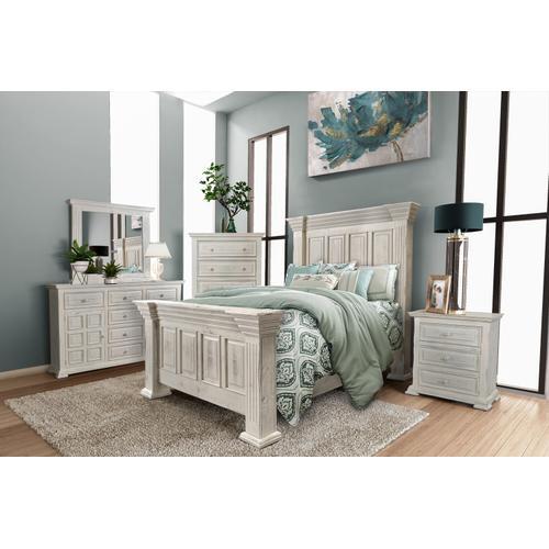 Horizon Home Furniture - Marquis White Bed