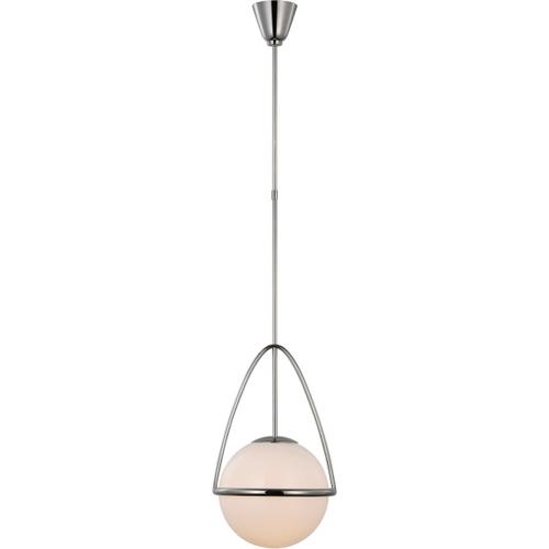 AERIN Lisette LED 13 inch Polished Nickel Globe Pendant Ceiling Light, Medium