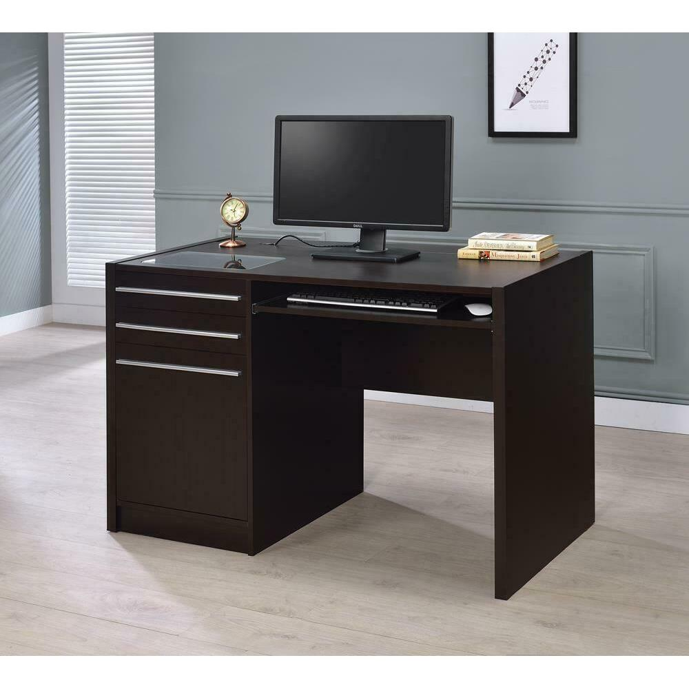 Contemporary Cappuccino Connect-it Computer Desk