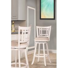 Fairfox Swivel Counter Stool - White
