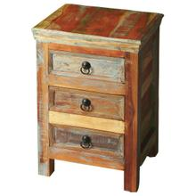 See Details - Crafted from recycled wood solids in a multi-colored hand-painted finish ensuring bonafide originality, this Accent Chest offers the faded colors of an heirloom as well as an alluring rustic charm.
