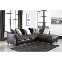 Armant Ebony Chaise Sofa