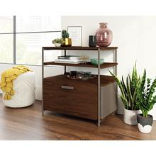 Modern File Cabinet with Open Shelves