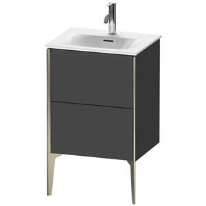 Vanity Unit Floorstanding, Graphite Matte (decor)