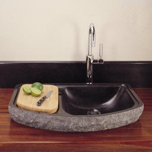 Drop-in Bar Sink Black Granite Product Image
