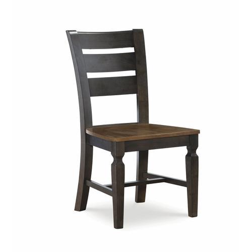 John Thomas Furniture - Laddertback Chair in Hickory & Coal